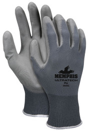 Memphis UltraTech PU, 13 Gauge Gray Nylon, Gray PU Palm Coated