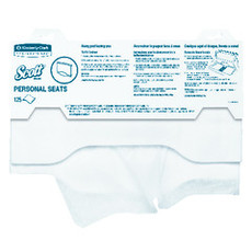 Scott Personal Seats Toilet Seat Covers, 1/2-Fold, 125 Per Package, 3000 Per Case