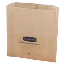"Rubbermaid Sanitary Napkin Receptacle Bags, 3-3/4"" W x 9-3/4"" L x 9-7/8"" H, Brown, Wax Paper (50 Per Bundle, 250 Per Carton)"