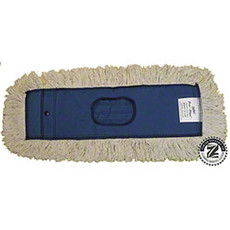 "Zephyr Utility+™ Industrial Dust Mops, 5"" W x 48"" L, 6 Ply, White, Slip-On, Cotton (6 Each Per Case)"