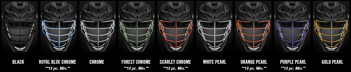 Cascade S Custom Facemask Colors