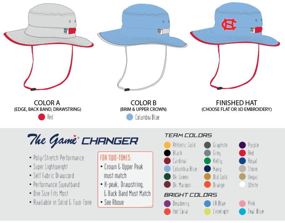 9017b81ee03 custom-colored-bucket-hats.png. HAT DECORATION OPTIONS. Flat Embroidery ...