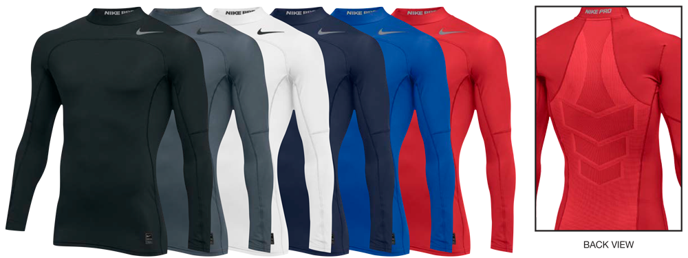 97188d920 Custom Nike Pro Hyperwarm Compression Shirts. NIKE PRODUCT SPECS. Long  Sleeve ...
