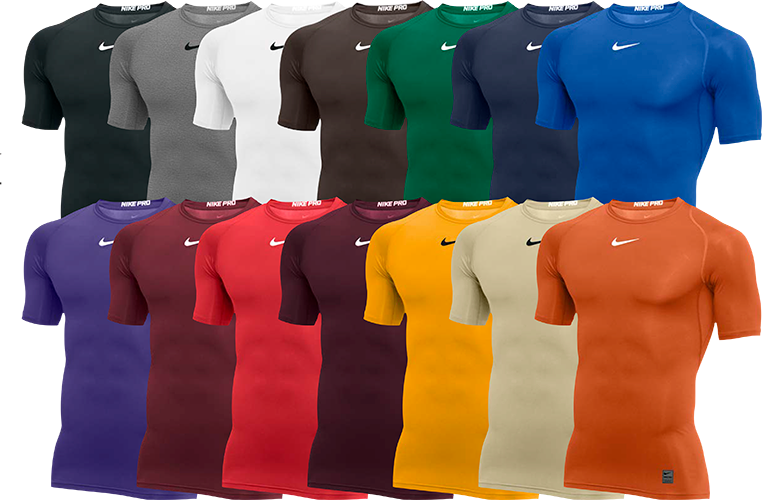 d143912deb Custom Nike Pro Compression Shirts. NIKE PRODUCT SPECS. Short Sleeve ...