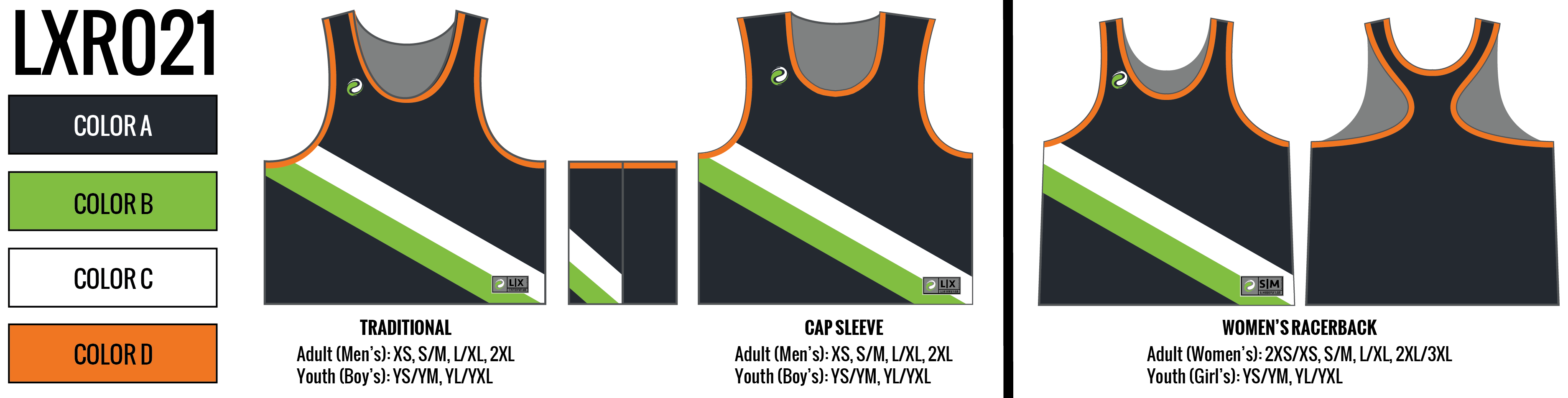 Custom Sublimated Lacrosse Pinnies - Design LXR21