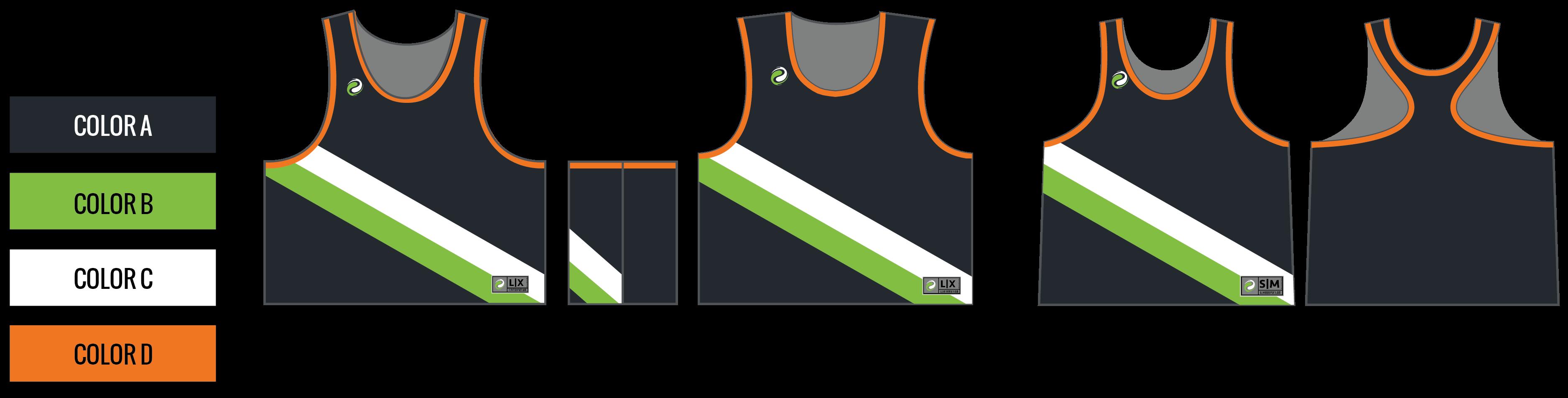Custom Sublimated Lacrosse Pinnies - Design LXR21