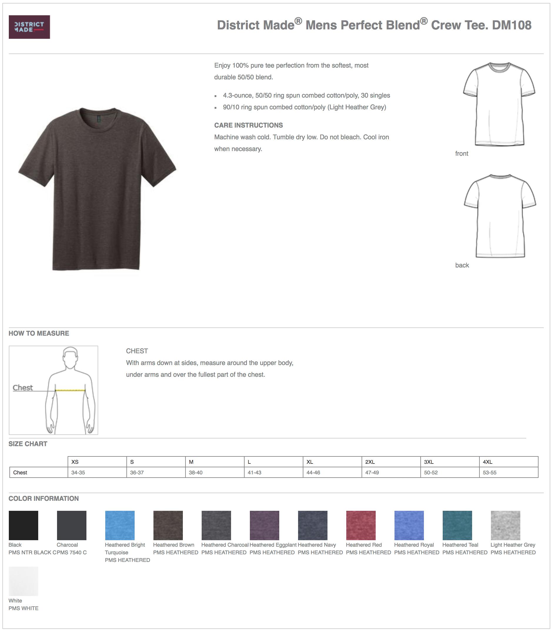 District Made Soft Feel 5050 Custom T Shirts Elevation Sports