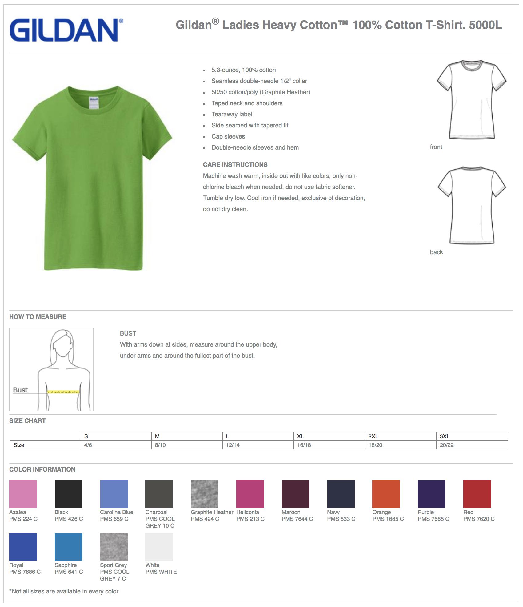 Gildan 5400L Women's Long Sleeve Custom T-Shirts