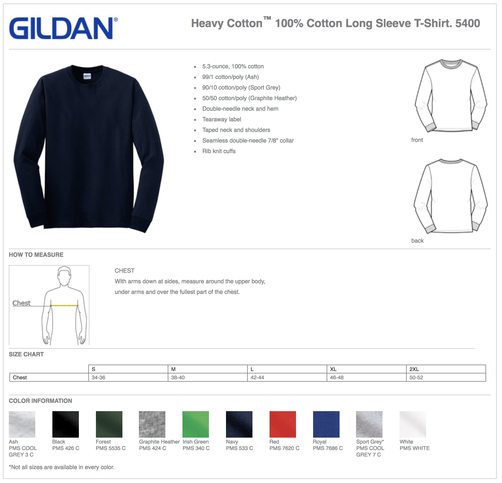 Gildan 5400 Long Sleeve Custom T-Shirts