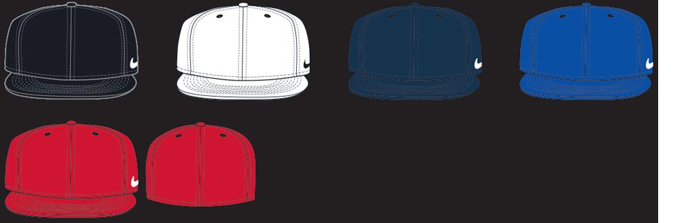 667491bc453b0 Custom Nike True Swoosh Flex Baseball Caps - Elevation Sports