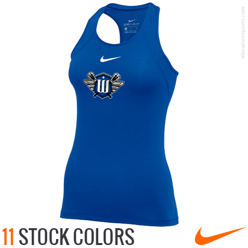 Custom Nike Women's Pro All Over Mesh Compression Tanks