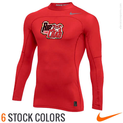 051dcd067 Custom Nike Compression Shirt with Mock Neck