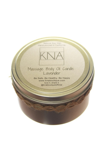 Lavender Body Oil Candle