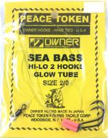 Black Sea Bass Rigs - Glow Tube 2 Hook Rigs