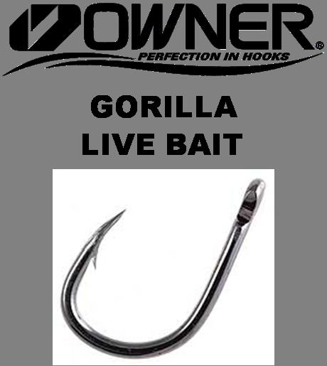 Owner Hooks - Gorilla Live Bait