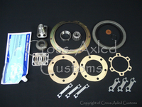 Land Rover Series IIA/III Steering Swivel Housing Repair & Seal Kit (w/o Housings) Later Style w/Steering Link on Lower Section Of Housing #DA3181P