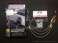 "GoodRidge Stainless Steel Braided Brake Hose / Line Set +2""/50mm Extended Length, Land Rover Series III 1971 to 1980. #BA 157AL"