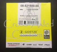 Land Rover Defender, Discovery 1 & 2, Range P38 4.0 / 4.6 V8 Engine Piston Ring Set (One Piston). #STC1427G OEM / Goetz Brand