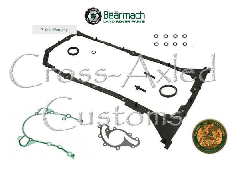 Land Rover Discovery II / Range Rover P38 4 0 & 4 6 V8 Engine Oil Pan &  Lower Gasket Kit  (Bosch Engines) #4046BLowerSet