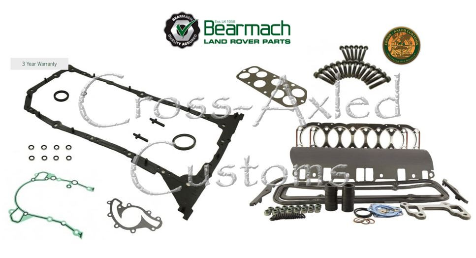 BOLTS STC4082 LAND ROVER DISCOVERY 1 2 II RANGE P38 RR CLASSIC HEAD GASKET SET