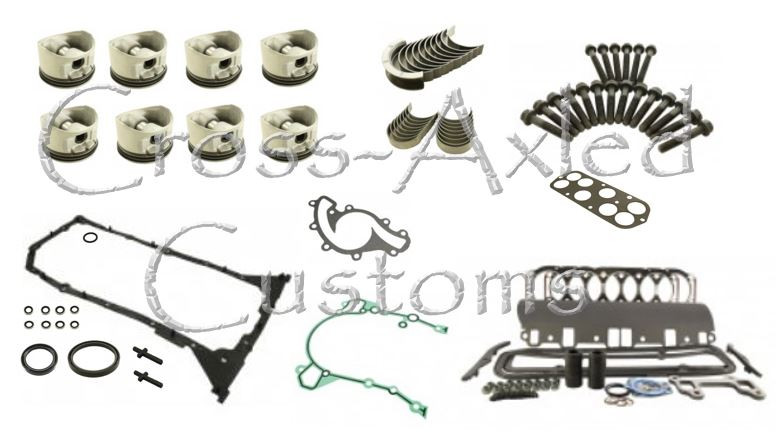 Land Rover Discovery II & Range Rover P38 4 6L V8 Engine Rebuild Overhaul  Kit BOSCH ONLY - OEM Pistons