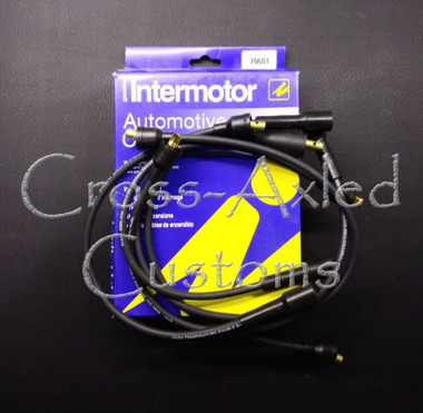 Land Rover Series II/IIA/III 2.25 & Defender 2.5 Ignition Lead Spark Plug Wire Set (Push-In Style) ERC3256 Intermotor