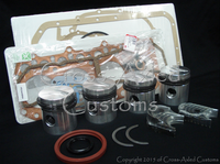 Land Rover Series 2 II 2a IIa 3 III 2.25 Diesel Engine Motor Overhaul Rebuild Kit. Pistons, Rings, Crankshaft Bearings, Upper Head & Lower Conversion Gasket Sets & Crank Seals