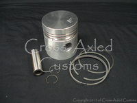 RTC4188 Piston, Ring, Gudgeon Wrist Pin Cylinder Kit. Land Rover Series 2 II 2a IIa 3 III 2.25 Gas Petrol Engine Motor