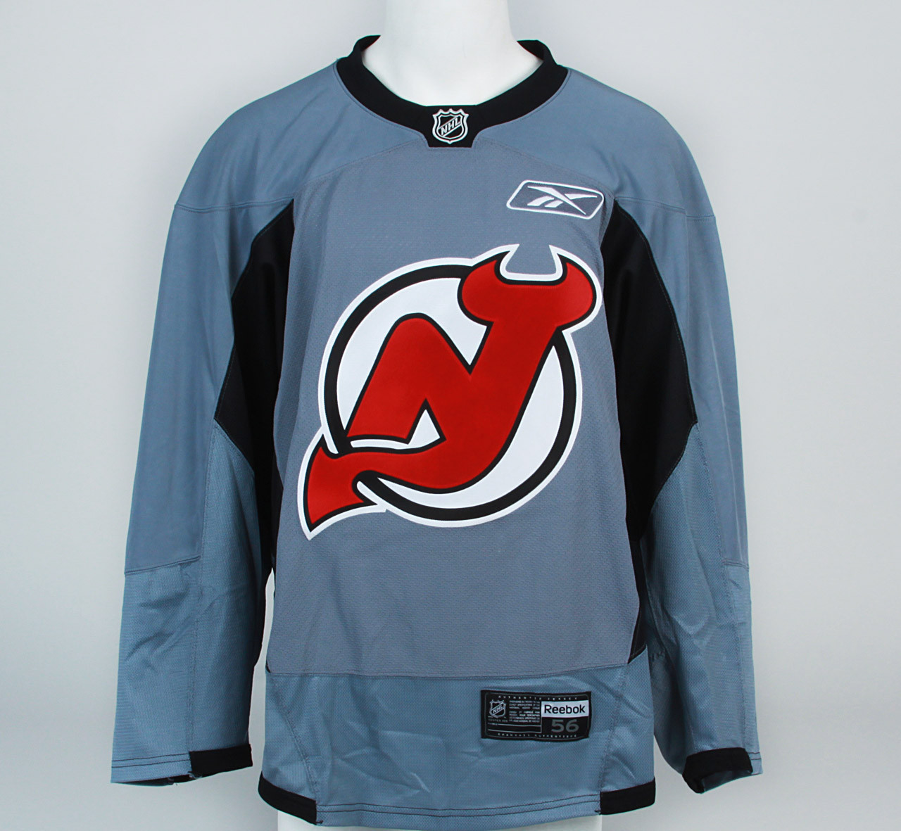 Practice Jersey - New Jersey Devils - Gray Reebok Size 56  2 - Pro ... e8232886ed6