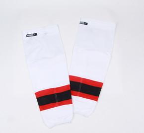 Game Sock - New Jersey Devils - White Reebok Size XL+