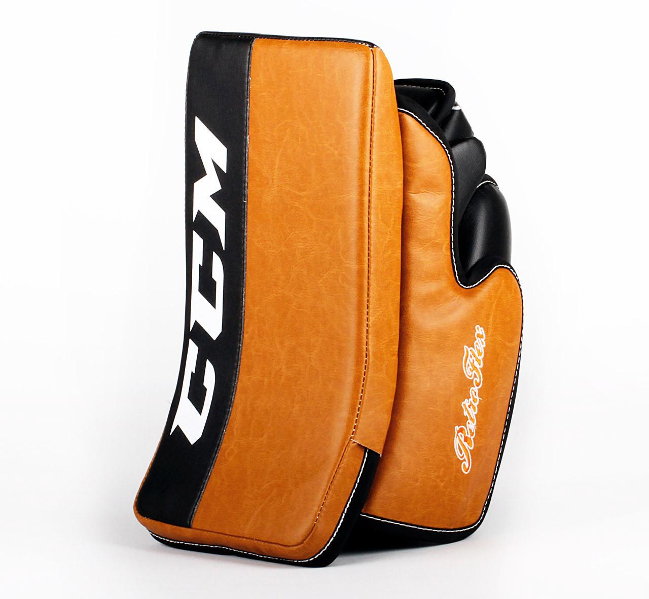 big sale 87bf4 ce04f Full Right - CCM Retro Flex Brown Blocker - Steve Mason Philadelphia Flyers