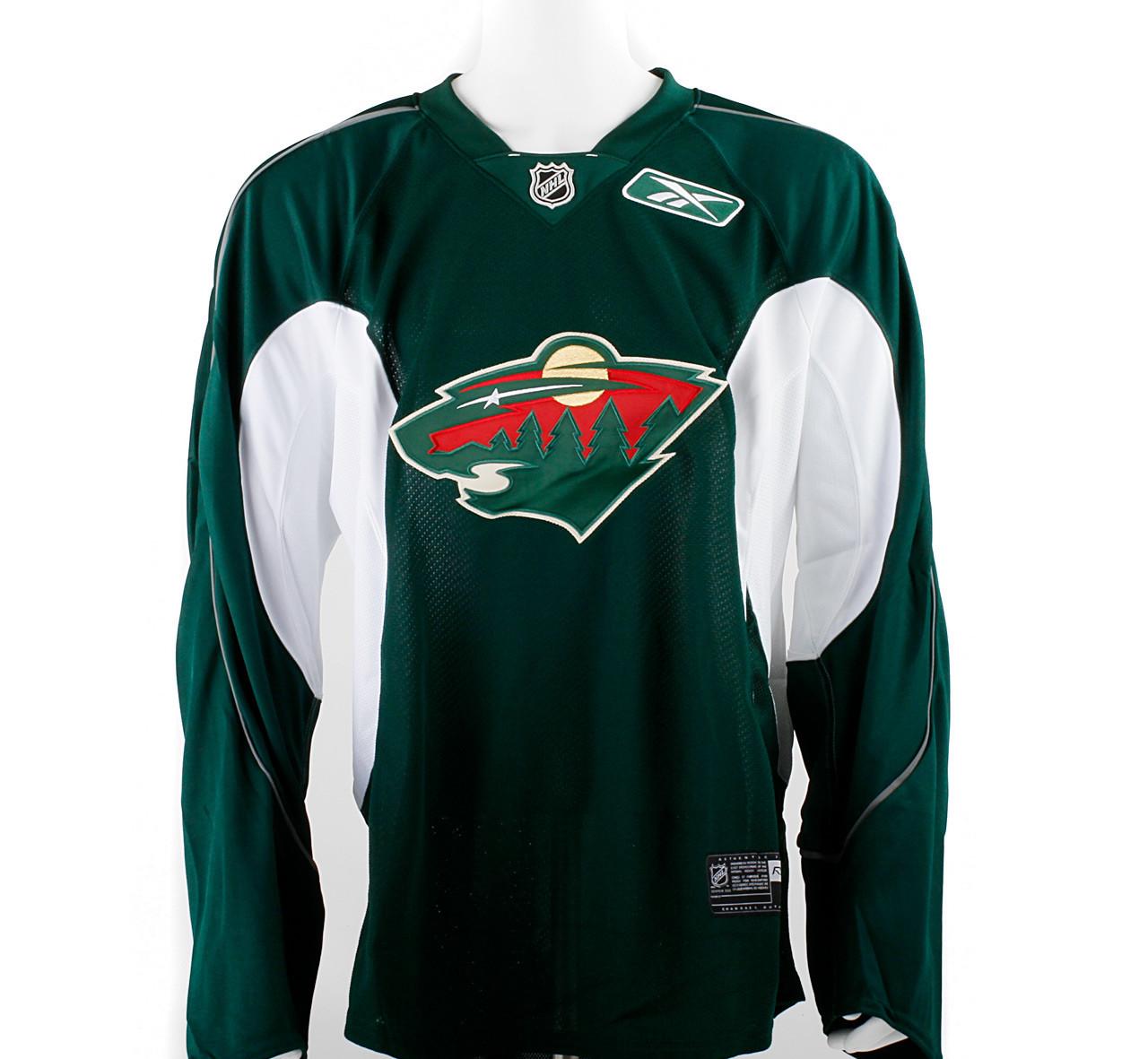 Practice Jersey Minnesota Wild Green Reebok Size 58