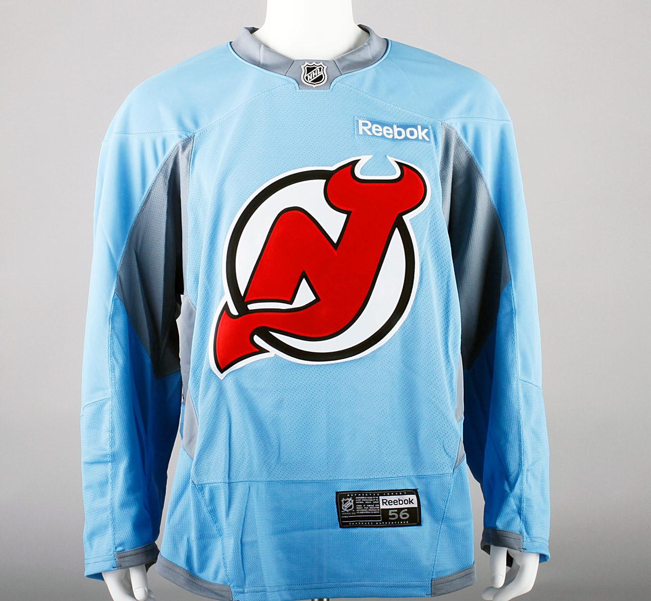 ... Practice Jersey - New Jersey Devils - Baby Blue Reebok Size 56  2.  Image 1 a62246782