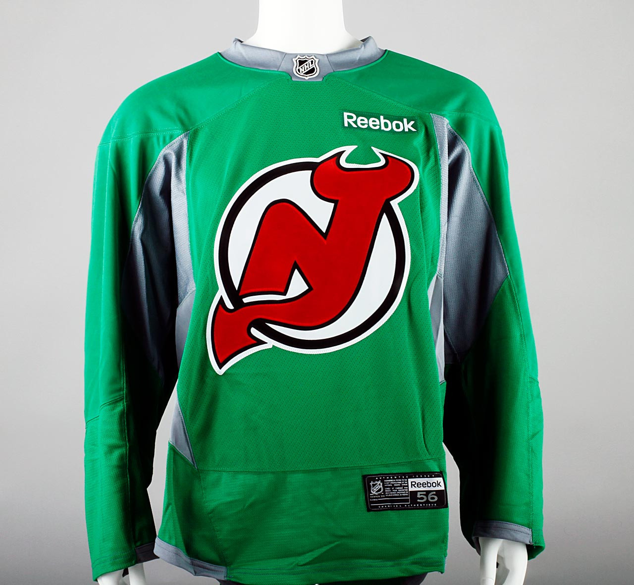 new concept 0c879 c09a1 Practice Jersey - New Jersey Devils - Green Reebok Size 56 #3