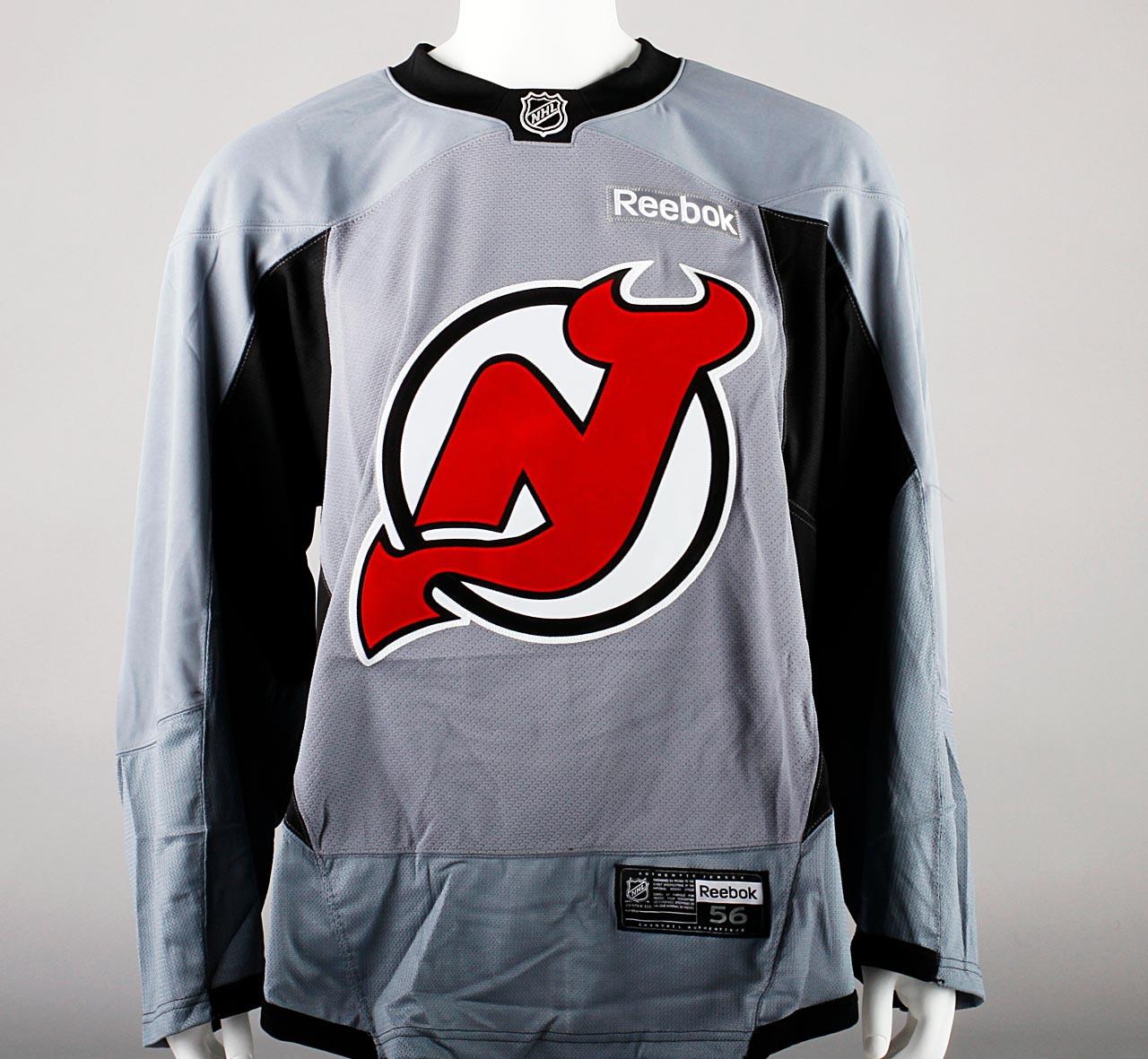 ... Practice Jersey - New Jersey Devils - Gray Reebok Size 56  4. Image 1 8a4924936