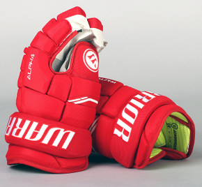 """13"""" Warrior Alpha QX Gloves - Team Stock Detroit Red Wings"""
