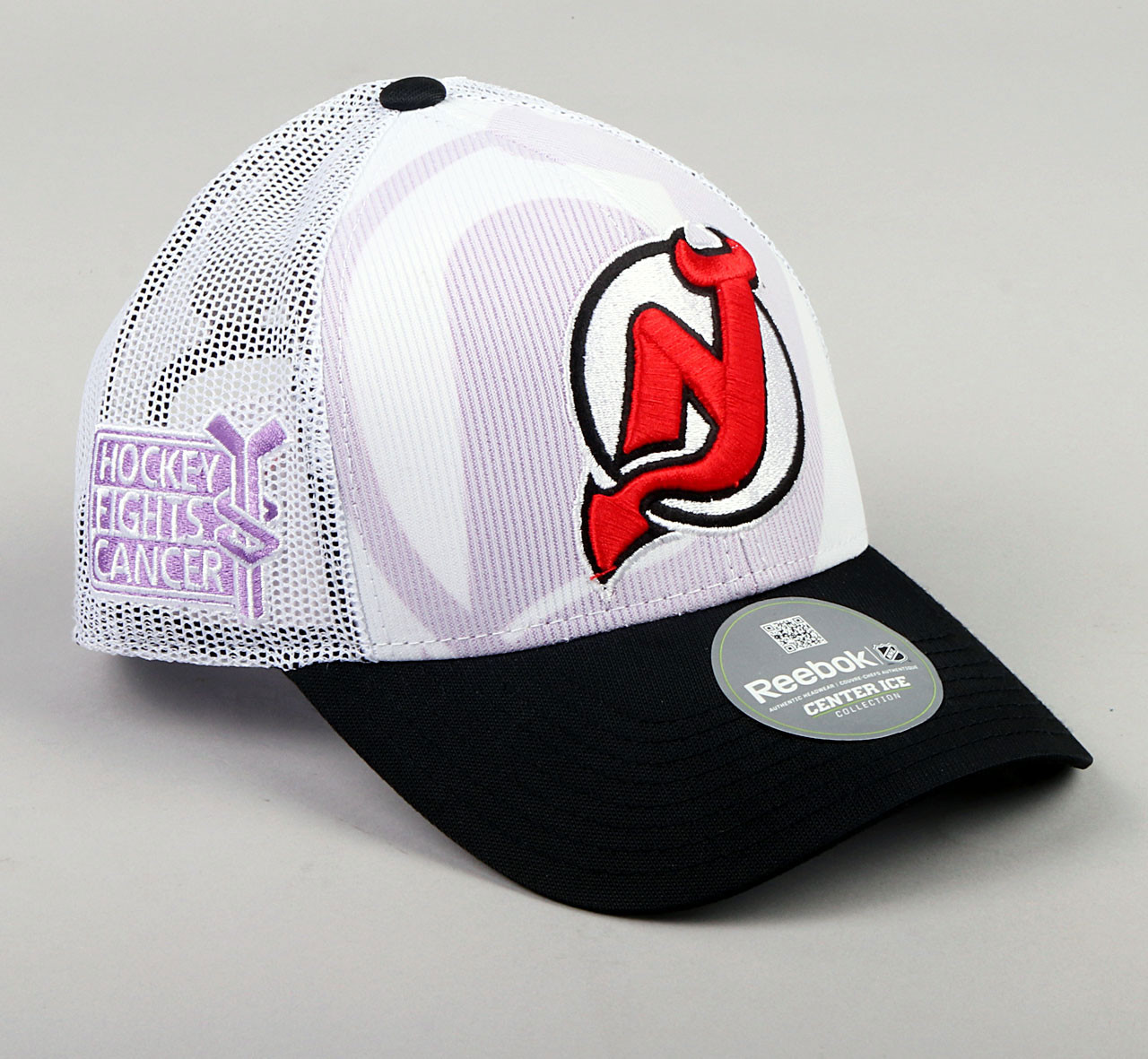 81142cd9174 ... New Jersey Devils One Size Hockey Fights Cancer Adjustable Hat. Image 1