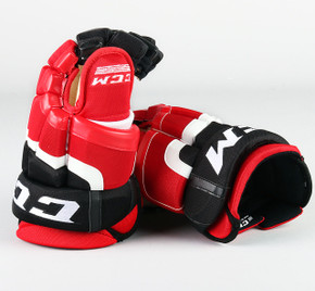 """14"""" CCM HG50 Gloves - Team Stock Albany Devils"""