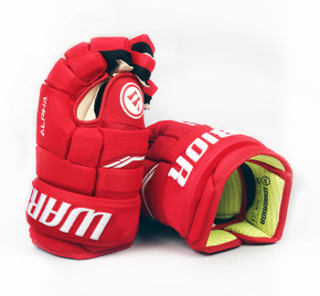 """13"""" Warrior Alpha QX Gloves - Team Stock Detroit Red Wings #2"""