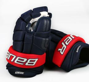 """13"""" Easton 4 Roll Pro STD Gloves - Jussi Jokinen Columbus Blue Jackets"""