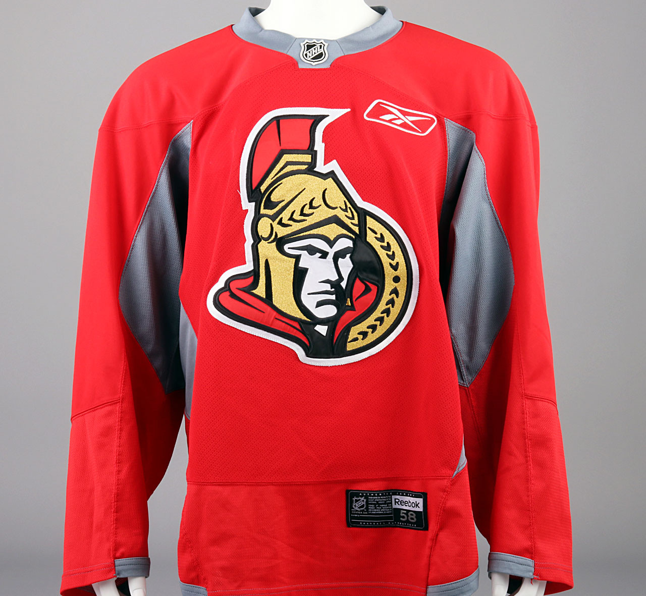 info for 96875 00461 Practice Jersey - Ottawa Senators - Red Reebok Size 58