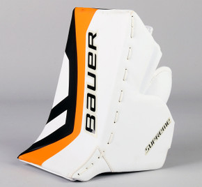 Full Right - Bauer Supreme White Blocker - Team Stock Philadelphia Flyers