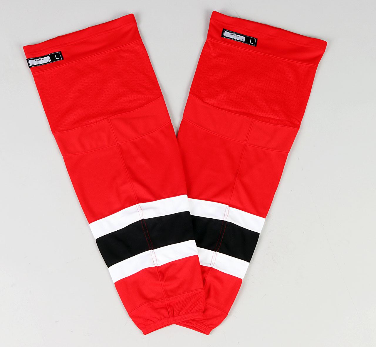 best service b0674 b9d51 Game Sock - New Jersey Devils - Red Reebok Size L #2
