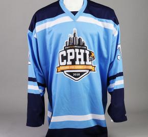 Large Baby Blue Chicago Pro Hockey League Jersey - Jack Drury