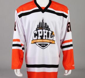 Large Orange Chicago Pro Hockey League Jersey - Nathan Clurman