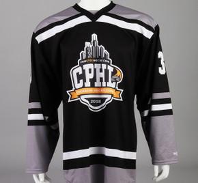 Large Black Chicago Pro Hockey League Jersey - Matt Barry