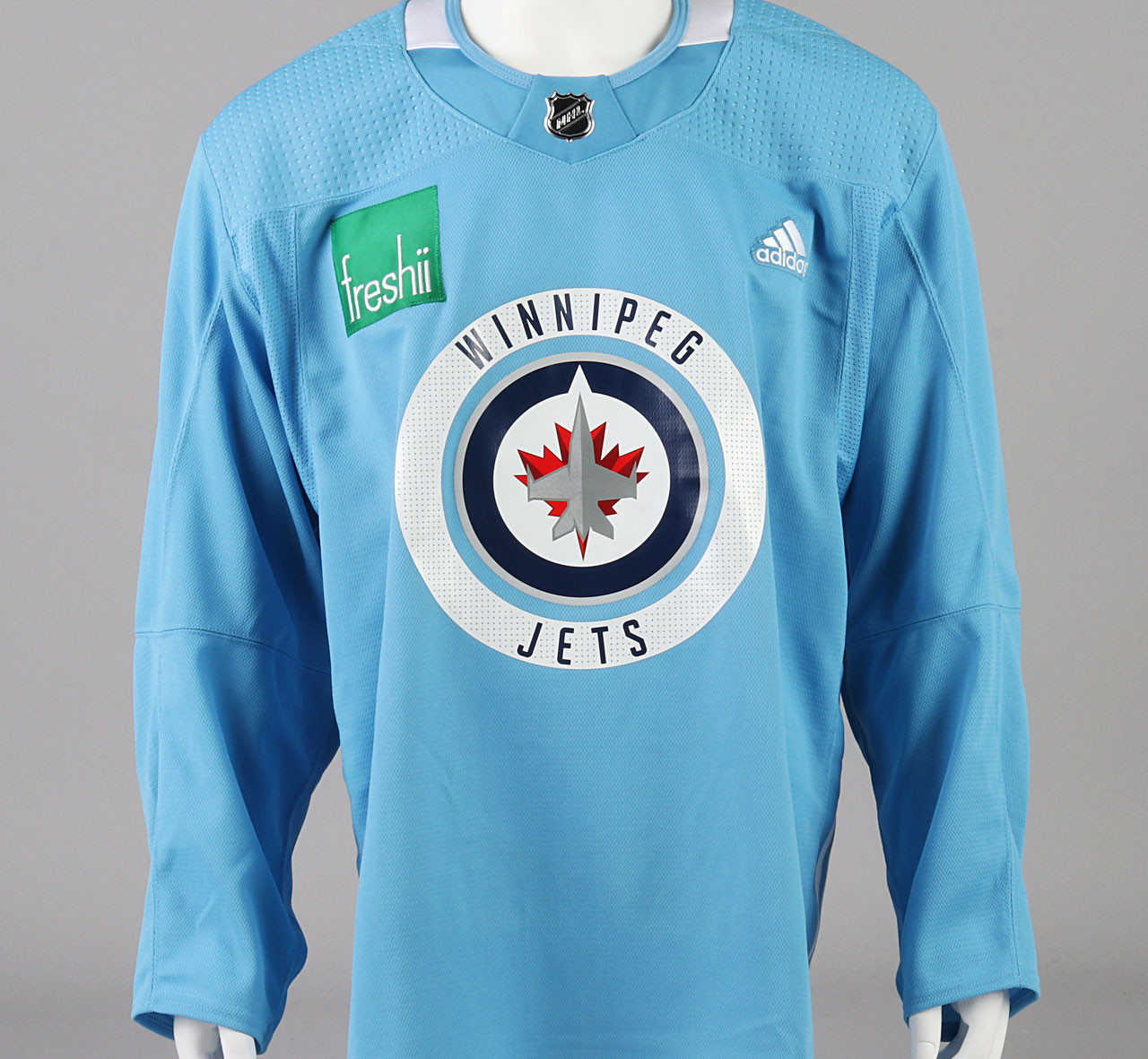 eb4fd24be70 ... Practice Jersey - Winnipeg Jets - Baby Blue Adidas Size 56. Image 1.  Image 1. Image 2. Image 3. See 2 more pictures
