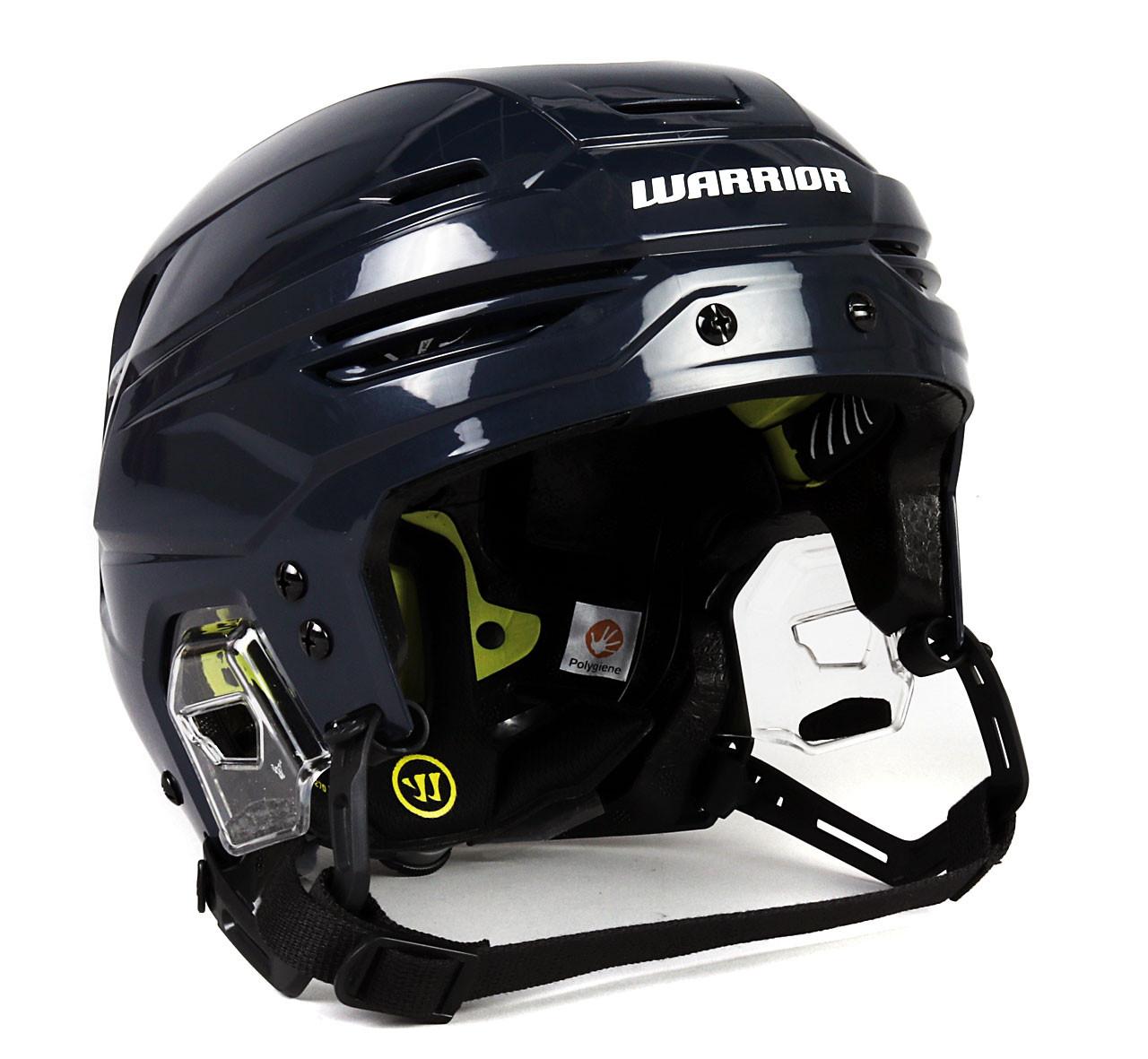 Size M Warrior Alpha One Pro Navy Blue Helmet Winnipeg Jets Pro Stock Hockey