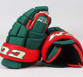 """14"""" CCM HG4RXP Gloves - Team Stock Minnesota Wild #2"""