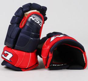 "13"" CCM HGCL Gloves - Team Stock Columbus Blue Jackets"